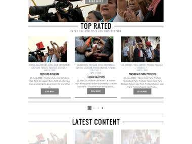 Wordpress Blog E-commerce Website