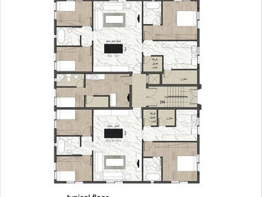 Preliminary architectural residential plans design