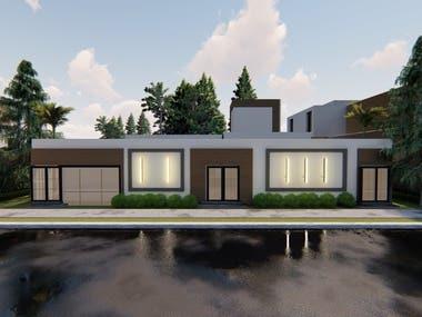 simple villa ex/in in KSA