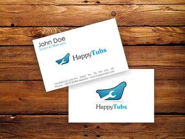 Business Card for Happy Tub