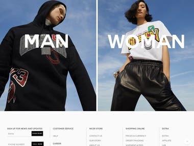 E-commerce Website - Nicerstore.com
