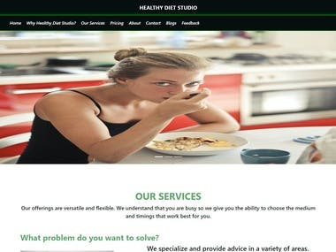 Diet Nutritionist - Blogs and User Authentication