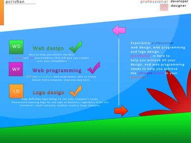 Flyer design and presentation of services