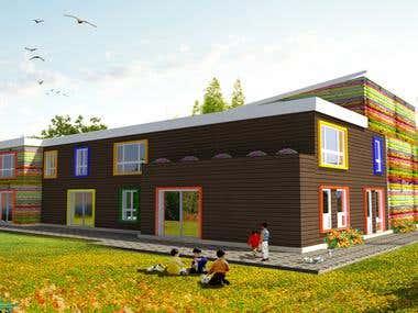 Photoshop Design for home exterior