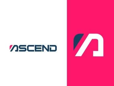 ASCEND logo design - A letter logo