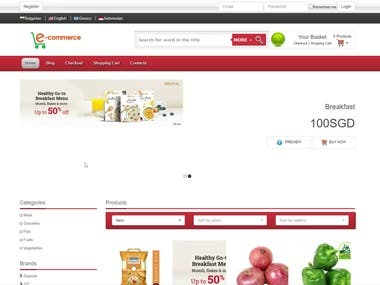 Multi Vendor Multi Language Ecommerce SIte