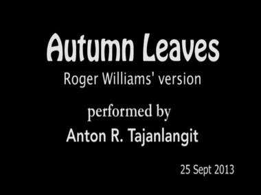 Autumn Leaves - piano rendition with digital orchestra