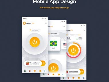 Mobile App Design Mock ups