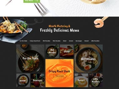 Noodles Restaurant Website Homepage