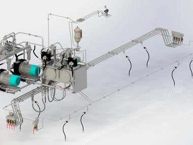 Industrial locomotive hydraulic system