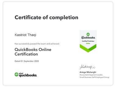 Quickbooks Online Certification 2020