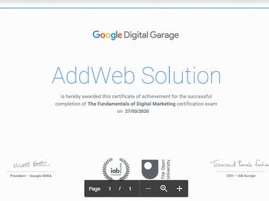 Google Digital garage: