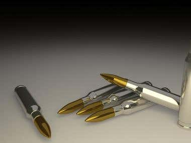 Conceptual Art (A bullet & A Pen merged together)