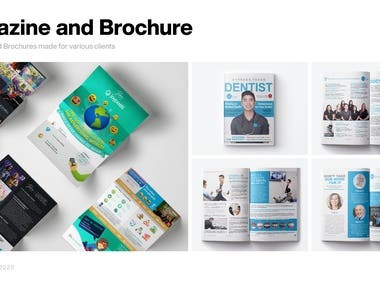 Brochure designs made for various clients