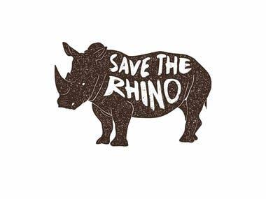 Vector Vintage Rhino