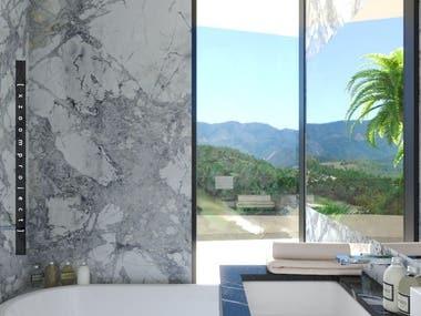 Bathroom in a private house. Grenada.