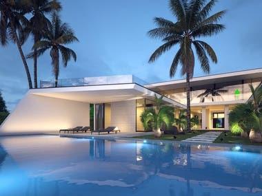 Yach style luxury villa. Nigeria.
