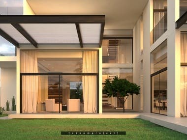 Modern villa. Saudi Arabia.