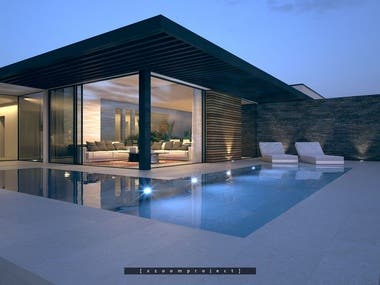 Private residence with a pool. Columbia.