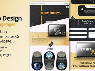 Teknokeys Landing Page