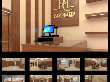 3D Architecture Interior - Lizard