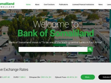 Website for bank of somaliland