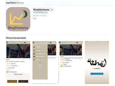 The RizqVentures app