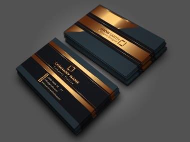 minimal, luxury, nique, modern, business card design