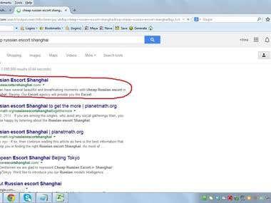 Keyword Ranking on google first position