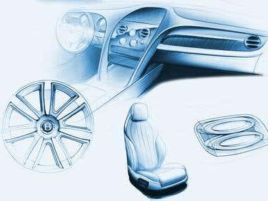 Automotive work examples.