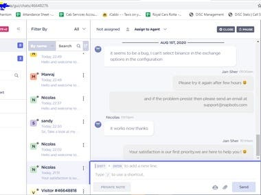 Technical support agent - Live Chat