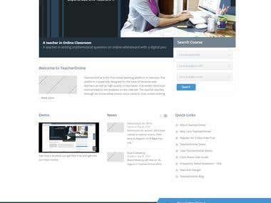 Webite Development for Online Teachers