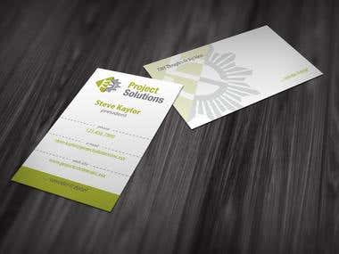 Business Card Design - Project Solutions