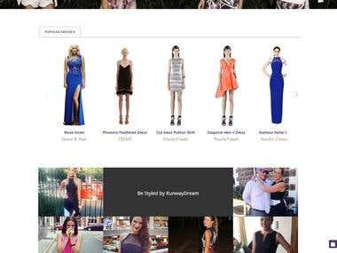 Online Rental Dresses Website