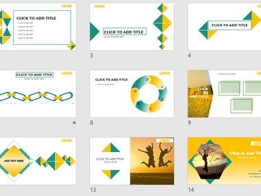 Unique style presentation template using PowerPoint