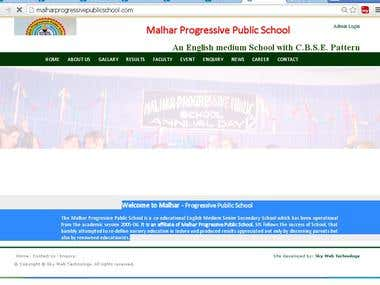 school website www.malharprogressivepublicschool.com/