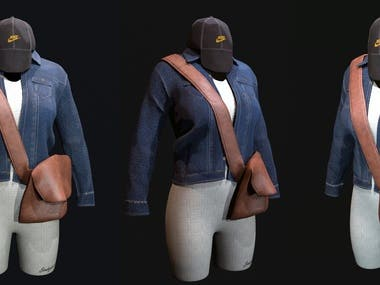 Realistic outfit 3d