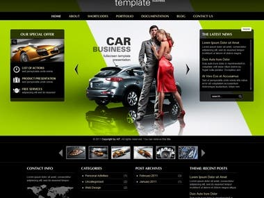 Car Business Website