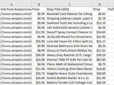 Trending item list in Excel