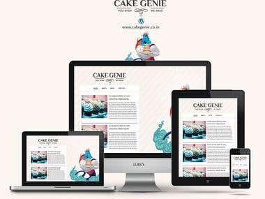 Responsive Wordpress Powered Website (Bakery)