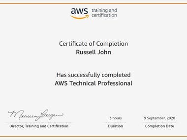 AWS Training Certificates
