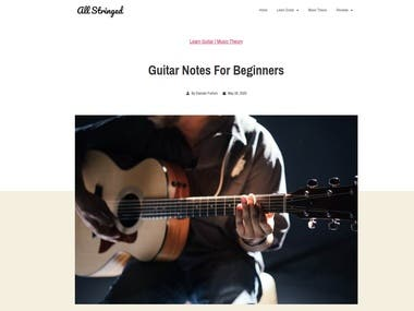 Blog Post Writing For A Guitar Site