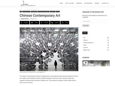 Article Writing For The Art Site ina-contemporary.ar