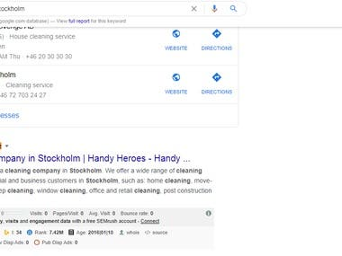 1st Page Rank on google.se