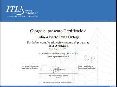 Certificado Java Avanzado ITLA