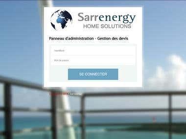 Création d'un logiciel de devis pour Sarrenergy