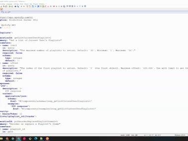 Sample OpenAPI3 YAML Documentation