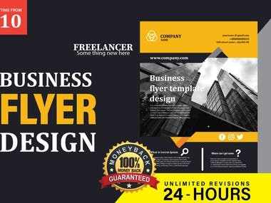 I will design professional business flyer for you