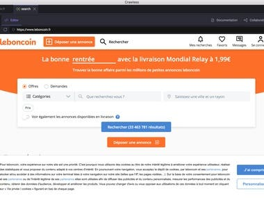 Scan leboncoin.fr for ads which have contact info, @, phone