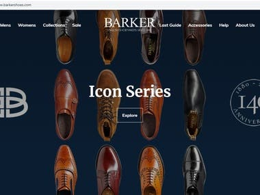 Worked with Barker Shoe Ltd